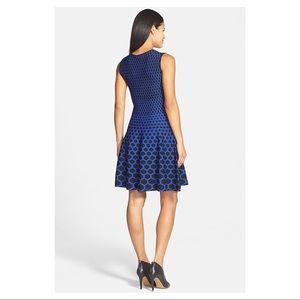 Clove Dresses - Clove Honeycomb Pattern Fit & Flare Sweater Dress